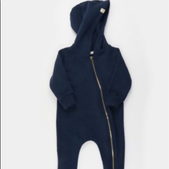 Mini Mioche Other - Mini Mioche 'The Biker Romper' - navy